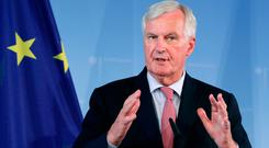 Michel Barnier could hardly have chosen a better moment to issue a passionate appeal to Europe's centre-right politicians to stand up to populism. Photo: Michael Sohn/AP Photo