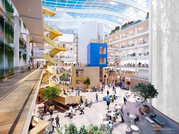 Move: An artist's impression of the atrium at Facebook's new Ballsbridge offices