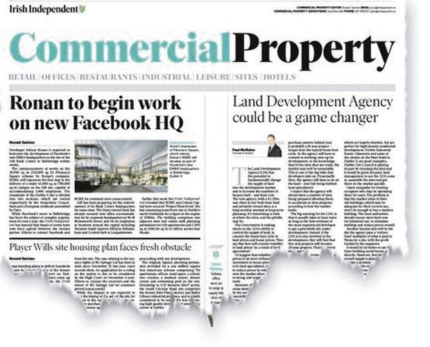 First with the news: The Irish Independent announced Facebook's expansion at Ballsbridge last September
