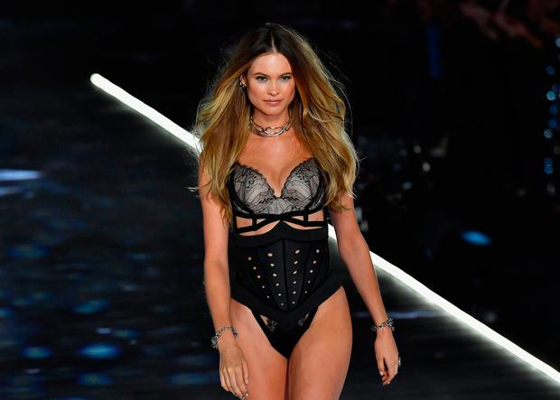 Namibian Model Behati Prinsloo walks the runway at the 2018 Victoria's Secret Fashion Show on November 8, 2018 at Pier 94 in New York City