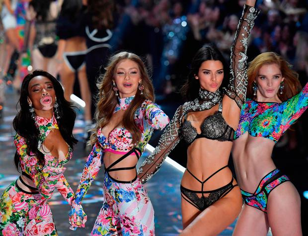 9dbdfd723a ... Victoria s Secret Fashion Show still relevant   from L to R   Canadian  model Winnie Harlow