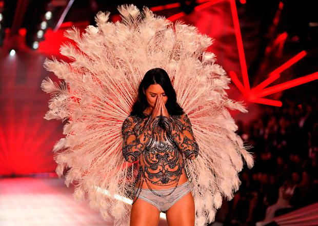 3fed4c41d2 Brazilian model Adriana Lima walks the runway at the 2018 Victoria s Secret  Fashion Show on November