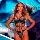 South African model Candice Swanepoel walks the runway at the 2018 Victoria's Secret Fashion Show on November 8, 2018 at Pier 94 in New York City