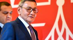 The newly elected president of the International Boxing Association (AIBA) Gafur Rakhimov