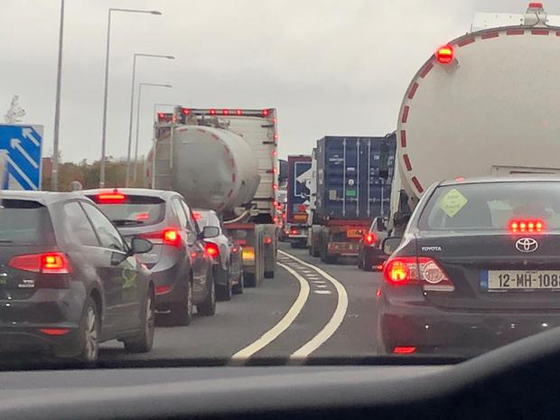 Heavy traffic on motorways today. Pic: Amy Molloy Independent.ie