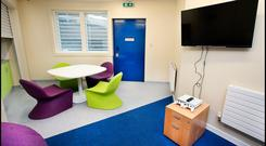 A Multipurpose Room at the new National Violence Reduction Unit in the Midlands Prison which includes an XBoxOne. Pic Steve Humphreys