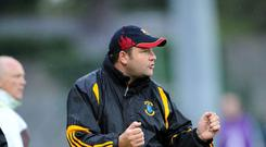Robbie Brennan shouting from the sidelines when in charge of St Peter's Dunboyne in 2011. Photo: John Quirke Photography