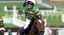 "WINNING WAY: Jockey Charlie Swan, the rider of Istabraq, ""never eats late at night""."