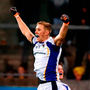 Paul Mannion of Kilmacud Crokes celebrates at the final whistle of their Dublin SFC final victory over St Jude's at Parnell Park.