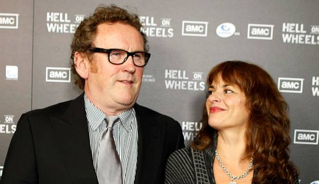 Leading man: Colm Meaney and wife Ines