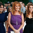 (L-R) Princess Eugenie Ferguson, Sarah Ferguson,the Duchess of York, and Princess Beatrice Ferguson attend the premiere of