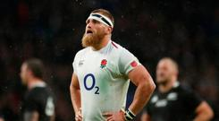 Rugby Union - Autumn Internationals - England v New Zealand - Twickenham Stadium, London, Britain - November 10, 2018 England's Brad Shields during the match Action Images via Reuters/Andrew Boyers