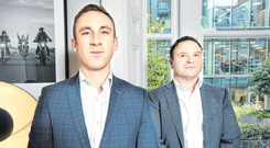 Eirkoo Recruitment managing director Darragh Everard and director John Mansell are targeting Brexit opportunities. Photo: Tony Gavin