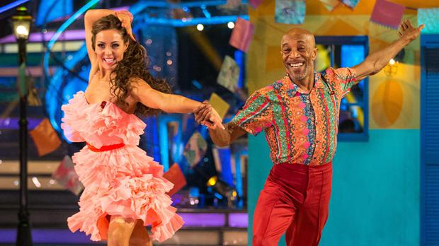 Amy Dowden and Danny John-Jules (Guy Levy/PA)