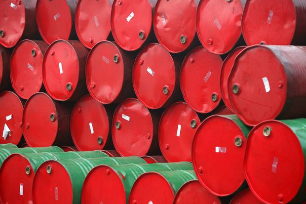 In London, Brent sank to a seven-month low below $70 a barrel. Stock Image