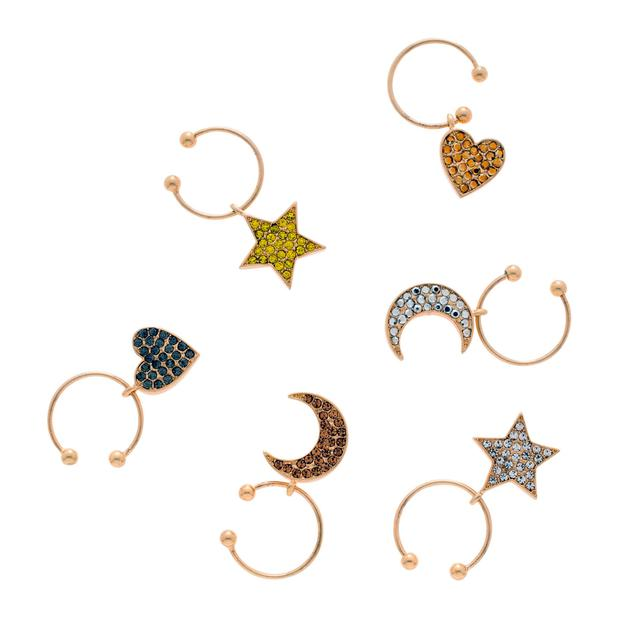 Celestial wine charms, €69: Much like charms on a bracelet, these little beauties are made to fit around the stem of a wine glass; joannabuchanan.com