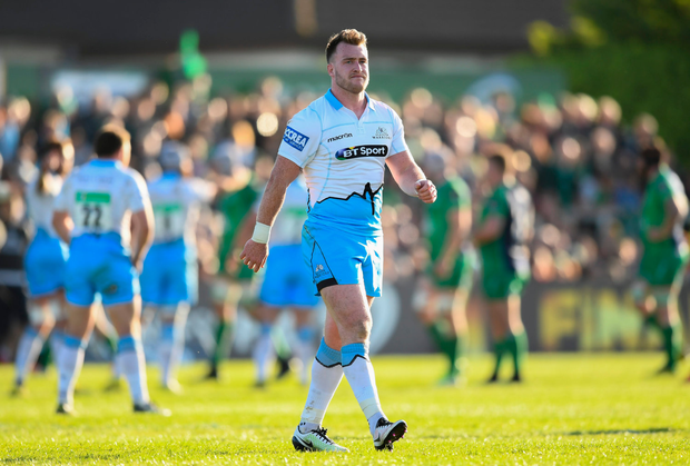21 May 2016; Stuart Hogg of Glasgow Warriors during the Guinness PRO12 Play-off match between Connacht and Glasgow Warriors at the Sportsground in Galway. Photo by Stephen McCarthy/Sportsfile