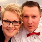 Frenzied attack: Mikolaj Wilk pictured with his wife Elzbieta