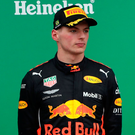 The force of the hefty impact on lap 43 sent Verstappen into a spin, and with the Dutchman facing the wrong way, Hamilton sailed by to resume the lead. Photo: Reuters/Paulo Whitaker