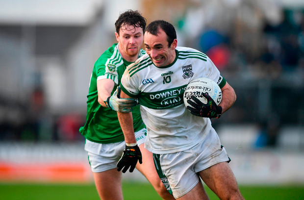 Gareth Dillon of Portlaoise in action against Ian Meehan of Moorefield. Photo by David Fitzgerald/Sportsfile