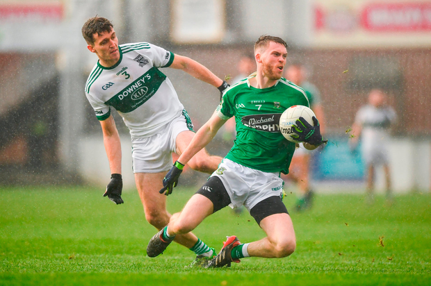 James Murray of Moorefield in action against David Seale of Portlaoise. Photo by David Fitzgerald/Sportsfile