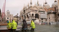 "Venice was inundated for several days in October as ""acqua alta"" or high water, rose more than five feet. Photo: Manuel Silvestri/Reuters"