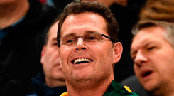 South Africa's head coach Rassie Erasmus. Photo:AFP/Getty Images