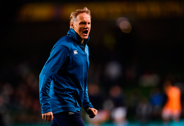 10 November 2018; Ireland head coach Joe Schmidt prior to the Guinness Series International match between Ireland and Argentina at the Aviva Stadium in Dublin. Photo by Ramsey Cardy/Sportsfile