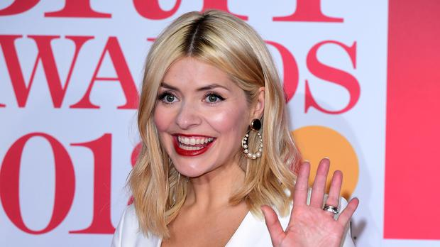 Holly Willoughby attending the Brit Awards at the O2 Arena, London (Ian West/PA)
