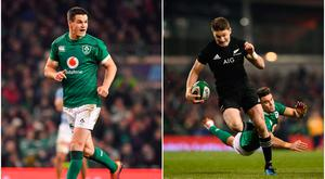 Johnny Sexton (left) and Beauden Barrett (right).