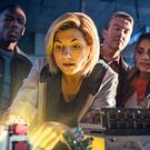 Jodie Whittaker as Doctor Who, with (left to right) Tosin Cole as Ryan, Bradley Walsh as Graham and Mandip Gill as Yasmin (BBC/PA)