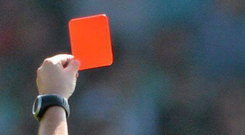 Incorporating double yellow carded players in a sin bin, part of the original proposals published last month, proved contentious as it was quite a scaling down from the red card that currently applies. Stock Image