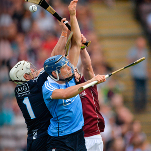 UP FOR IT: Dublin's Alan Nolan (l) and Eoghan O'Donnell (c) compete with Galway's Conor Whelan during their Leinster SHC Round 5 match last June at Pearse Stadium, Galway. Photo: Ray Ryan/Sportsfile