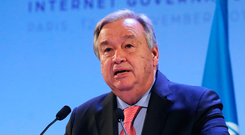 Appeal for peace: UN Secretary General António Guterres. Photo: Reuters