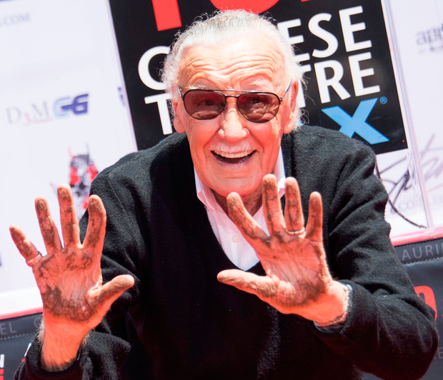 Creative mind: Stan Lee – who devised the original Marvel Universe – was invited to leave his mark on Hollywood's Walk of Fame in 2011. Photo: AFP/Getty