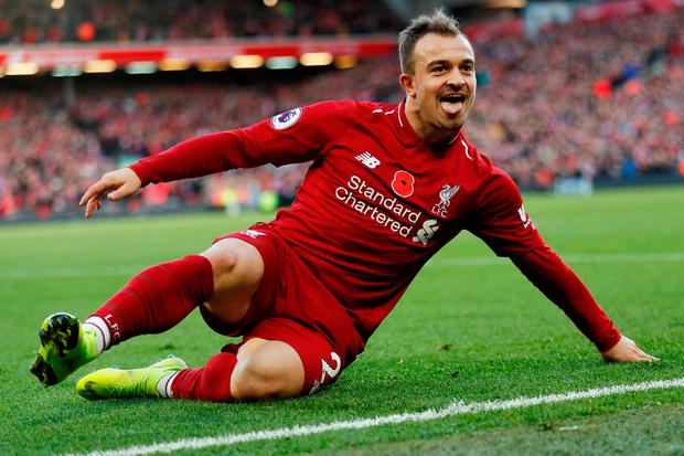 Xherdan Shaqiri has started the season in fine form for Liverpool. Photo: Reuters