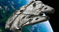 The mysterious object was not the Millennium Falcon