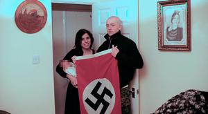 Undated handout file photo issued by West Midlands Police of Adam Thomas and his partner Claudia Patatas with their new born baby. Mr Thomas, 22, and Ms Patatas, 38, have been found guilty of being members of the extreme right-wing organisation National Action, which was banned in 2016. West Midlands Police/PA Wire