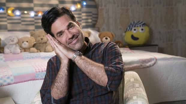Rob Delaney signs CBeebies Bedtime Story in language used with his son (BBC)
