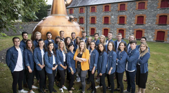 Sinéad D'Arcy, Head of Jameson International Graduate Programme pictured with the 2018 Jameson International Graduate Programme intake.