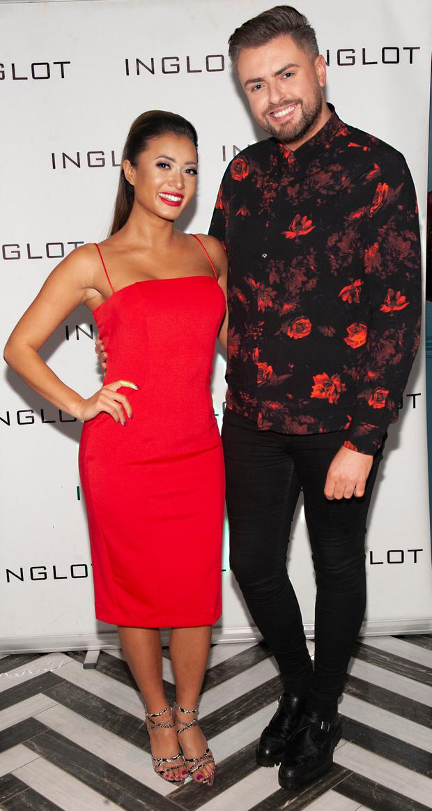James Patrice and Kaz Crossley at a VIP launch of the Inglot All Covered collection in Dublin. Picture: Pat O'Leary