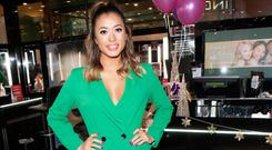 Kaz Crossley at the customer launch of the Inglot All Covered collection in Dundrum Town Centre