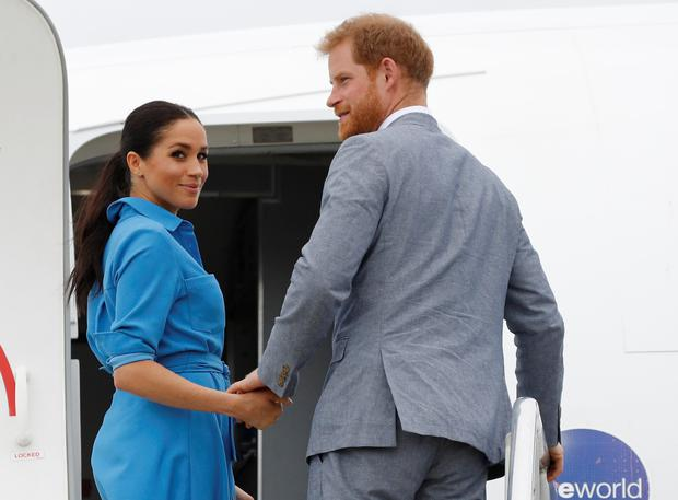 The Duke and Duchess of Sussex have recently returned from their overseas tour (Phil Noble/PA)