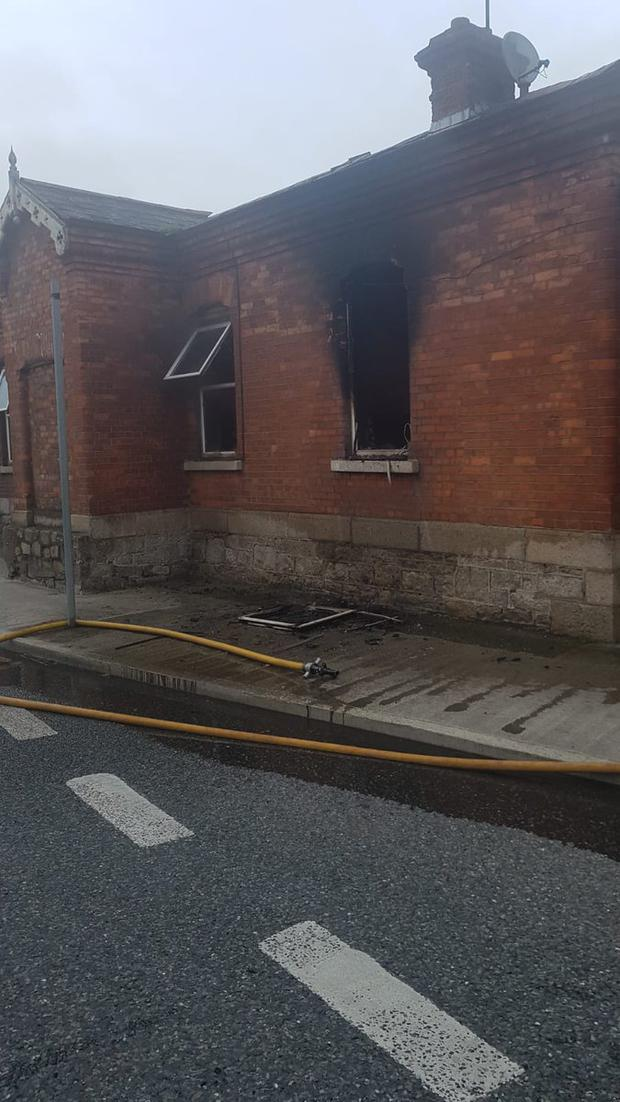 Dublin Fire Brigade attended the scene Photo: DFB Twitter