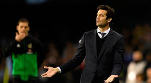Soccer Football - La Liga Santander - Celta Vigo v Real Madrid - Balaidos, Vigo, Spain - November 11, 2018 Real Madrid interim coach Santiago Solari REUTERS/Eloy Alonso