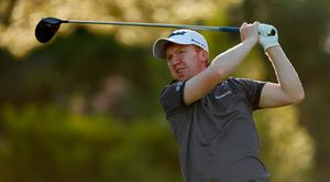 Gavin Moynihan in action during day three of the European Tour Qualifying School Final Stage at Lumine Golf Club in Tarragona, Spain. Photo: Luke Walker/Getty Images
