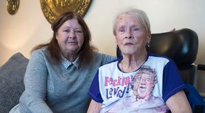 'It's not fair': Bernie O'Reilly (left )is battling to get sufficient care for her mother June, who recently lost both her legs to diabetes and is also blind. Photo: Arthur Carron.