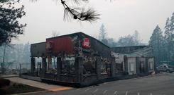A Jack In The Box restaurant damaged by the Camp Fire is seen in Paradise, California. REUTERS/Terray Sylvester