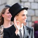 Cara Delevingne at Princess Eugenie's wedding in Windsor