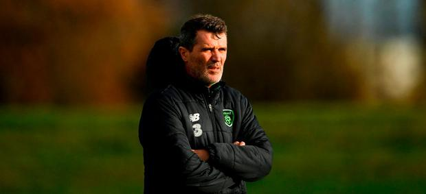 1Republic of Ireland assistant manager Roy Keane during a Republic of Ireland training session at the FAI National Training Centre in Abbotstown, Dublin. Photo by Stephen McCarthy/Sportsfile